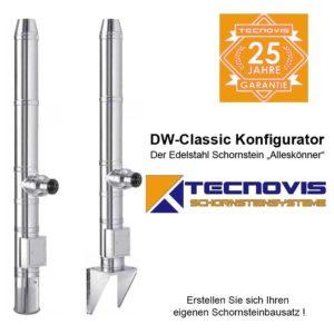 Tecnovis DW-Classic Edelstahlschornstein